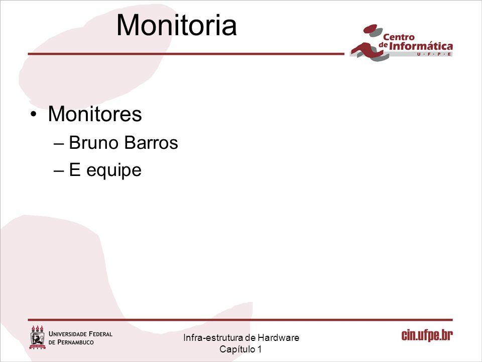 Infra-estrutura de Hardware Capítulo 1 Monitoria Monitores –Bruno Barros –E equipe