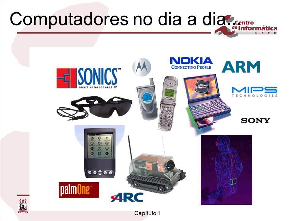 Infra-estrutura de Hardware Capítulo 1 Computadores no dia a dia... Computadores estão presentes nos mais diversos equipamentos