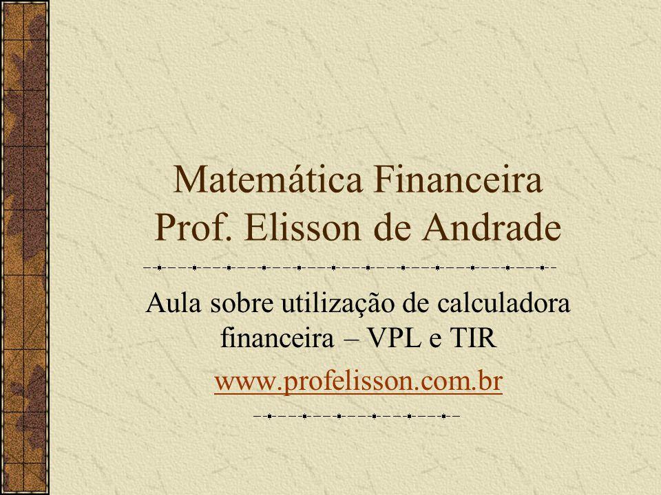 Matemática Financeira Prof.