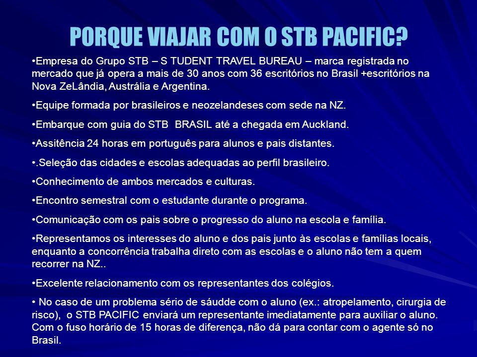 PORQUE VIAJAR COM O STB PACIFIC? Empresa do Grupo STB – S TUDENT TRAVEL BUREAU – marca registrada no mercado que já opera a mais de 30 anos com 36 esc