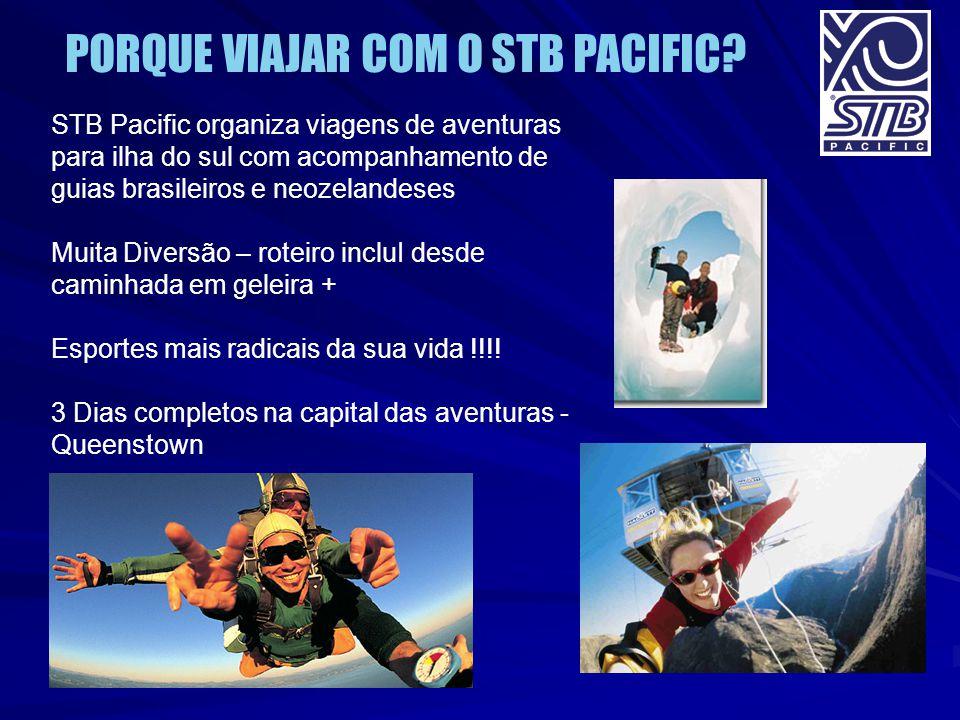 STB Pacific organiza viagens de aventuras para ilha do sul com acompanhamento de guias brasileiros e neozelandeses Muita Diversão – roteiro incluI des