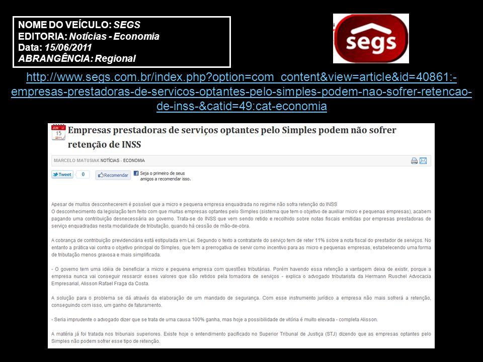 http://www.folhadoestadodoriobrasil.com.br/site/?p=noticias_ver&id=3687 NOME DO VEÍCULO: Folha Rio Brasil EDITORIA: Notícias Data: 15/06/2011 ABRANGÊNCIA: Regional