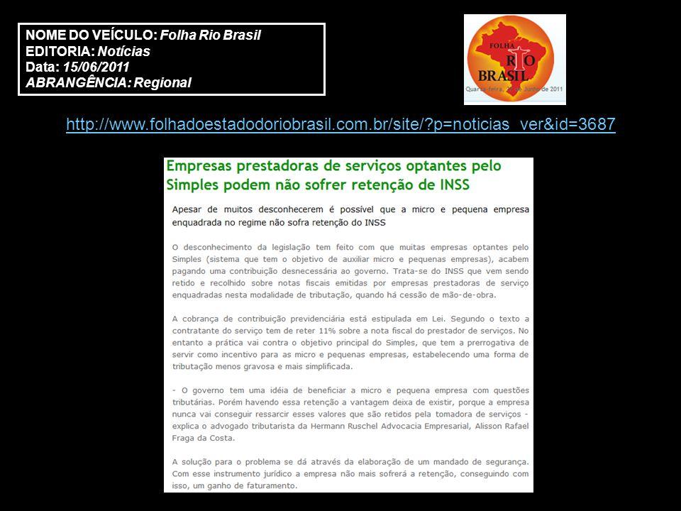 http://www.clippingexpress.com.br/ce2//?a=noticia&nv=MW6VqsgDviAO3Wawzfi0Fg NOME DO VEÍCULO: Perito.med EDITORIA: Economia Data: 15/06/2011 ABRANGÊNCIA: Nacional