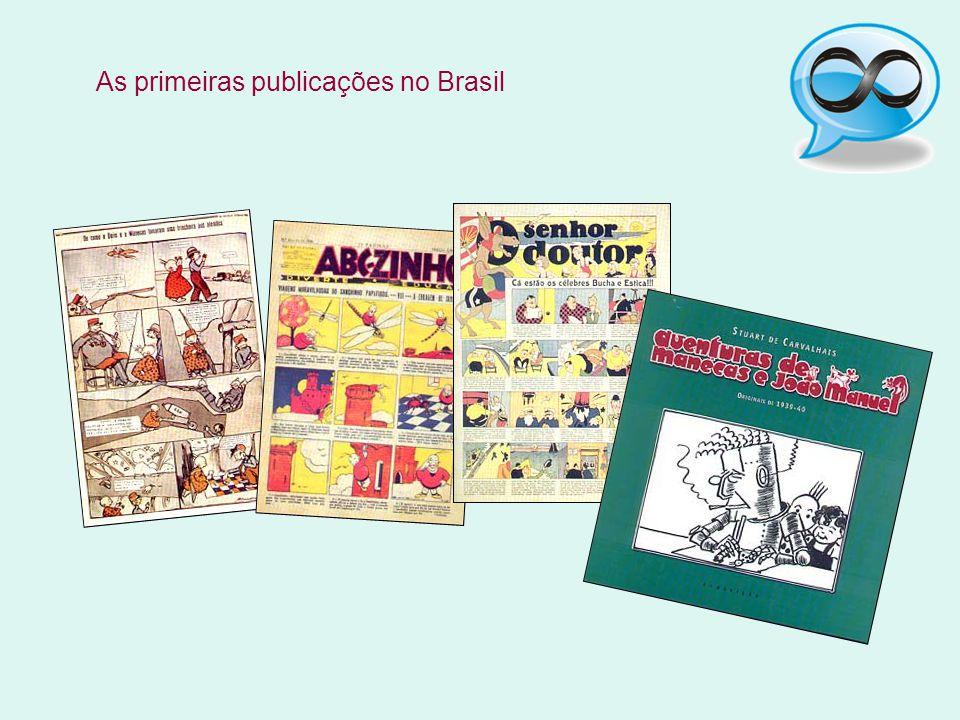 As primeiras publicações no Brasil