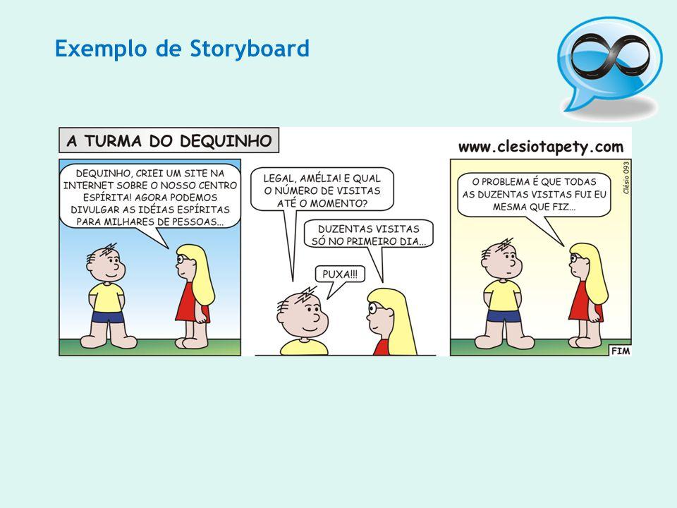Exemplo de Storyboard