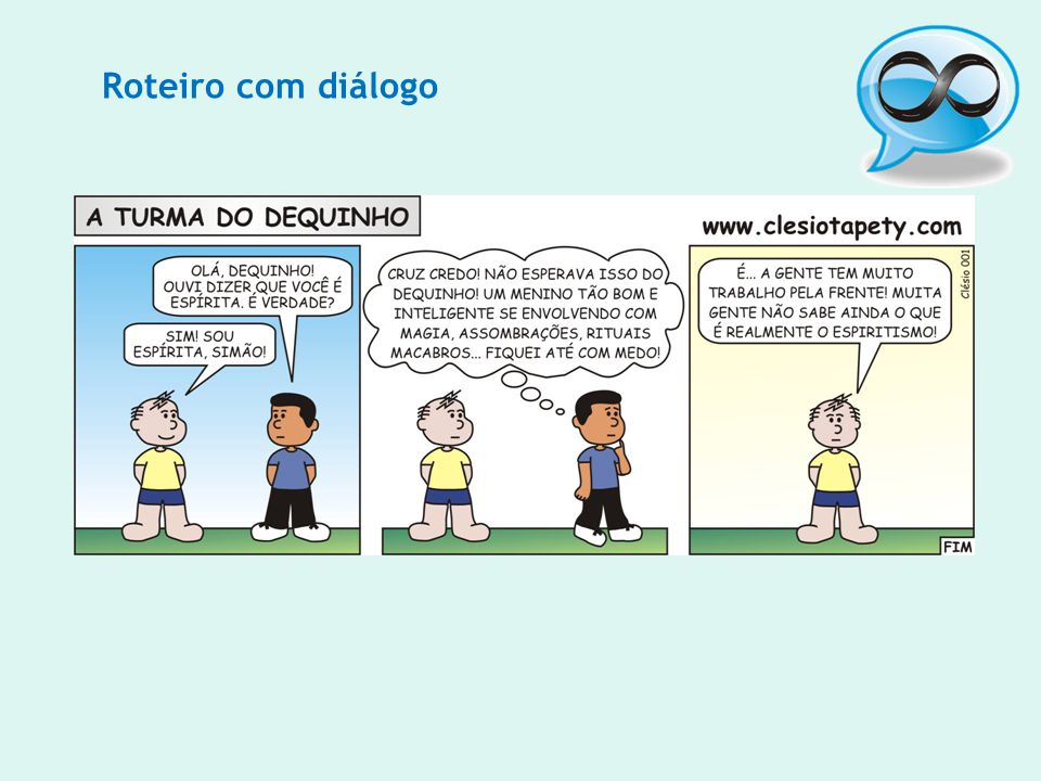 Roteiro com diálogo