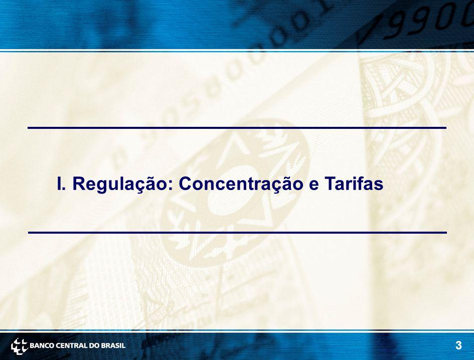 3 I. Regulação: Concentração e Tarifas