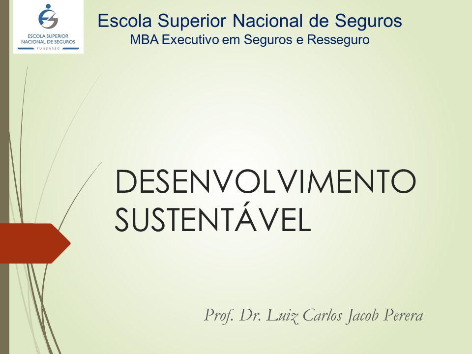 DESENVOLVIMENTO SUSTENTÁVEL Prof. Dr. Luiz Carlos Jacob Perera