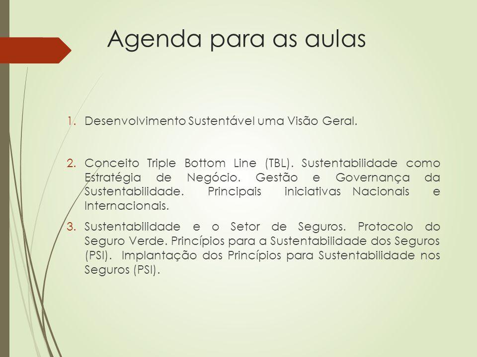 1.Desenvolvimento Sustentável uma Visão Geral.2.Conceito Triple Bottom Line (TBL).