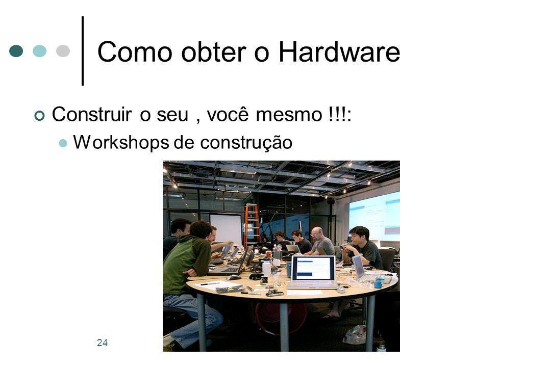 24 Como obter o Hardware Construir o seu, você mesmo !!!: Workshops de construção