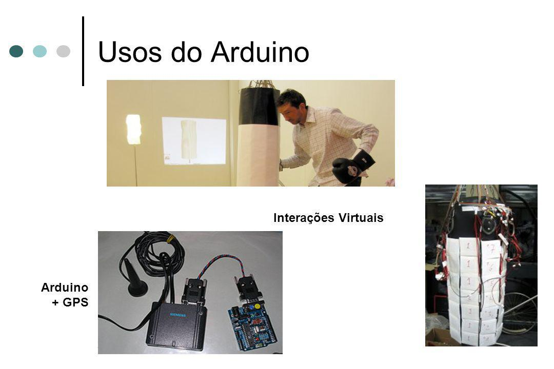 29 Usos do Arduino Arduino + GPS Interações Virtuais