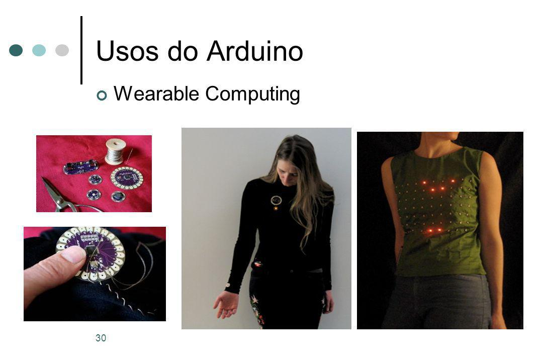 30 Usos do Arduino Wearable Computing