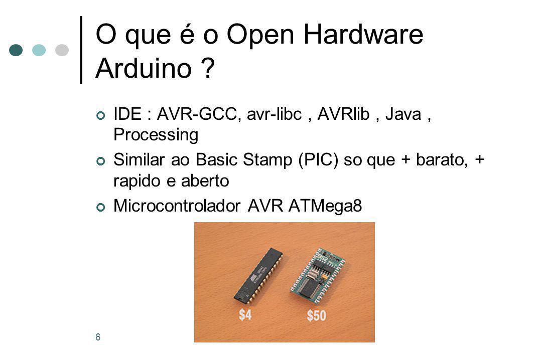 6 O que é o Open Hardware Arduino .