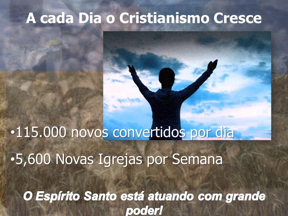115.000 novos convertidos por dia 115.000 novos convertidos por dia 5,600 Novas Igrejas por Semana 5,600 Novas Igrejas por Semana A cada Dia o Cristianismo Cresce