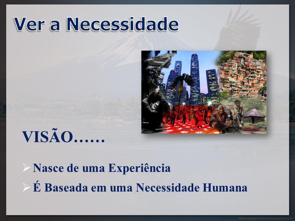 VISÃO……  Nasce de uma Experiência  É Baseada em uma Necessidade Humana