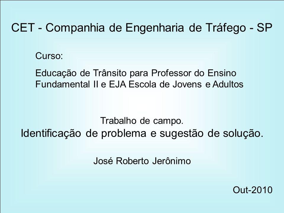 Bairro: Taboão Cidade: Guarulhos - SP Três pontos em questão neste apontamento.