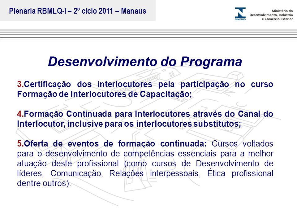 Marca do evento Desenvolvimento do Programa 3.Certificação dos interlocutores pela participação no curso Formação de Interlocutores de Capacitação; 4.