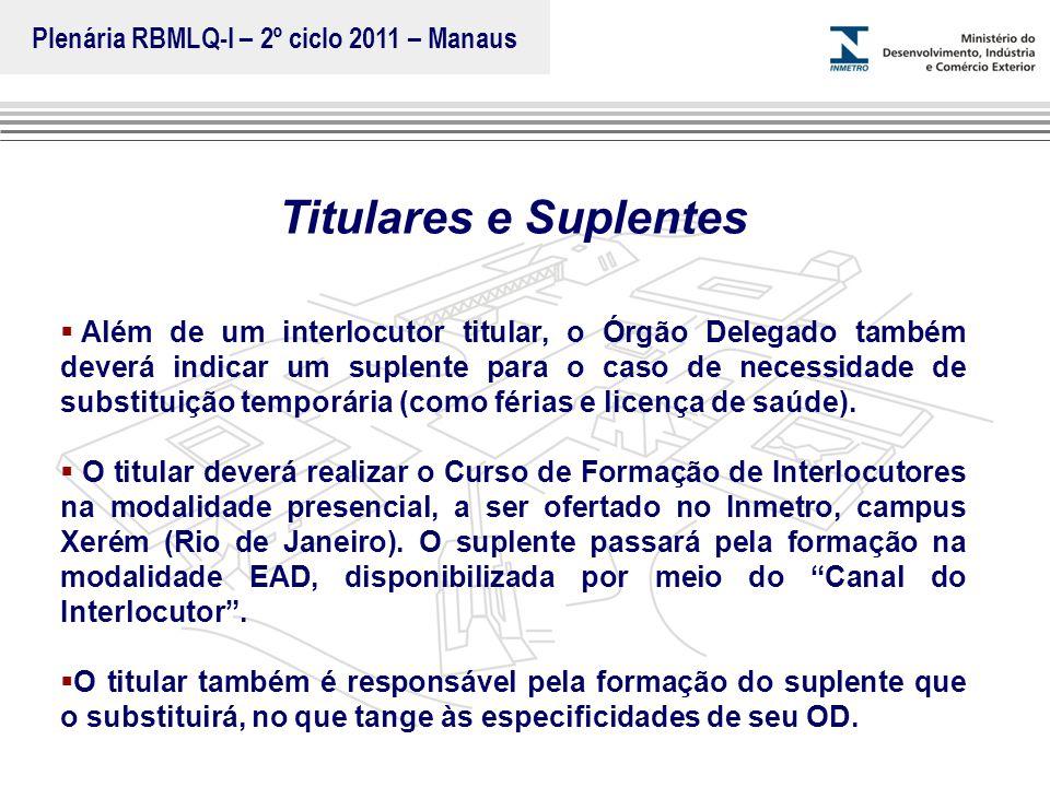 Marca do evento Titulares e Suplentes  Além de um interlocutor titular, o Órgão Delegado também deverá indicar um suplente para o caso de necessidade