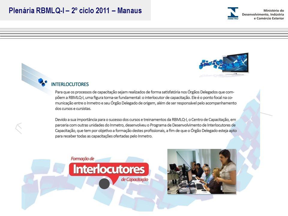 Marca do evento Plenária RBMLQ-I – 2º ciclo 2011 – Manaus