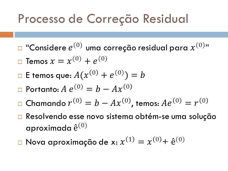 Processo de Correção Residual