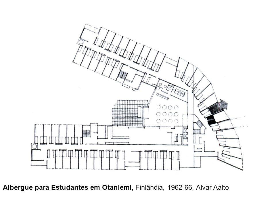 Albergue para Estudantes em Otaniemi, Finlândia, 1962-66, Alvar Aalto