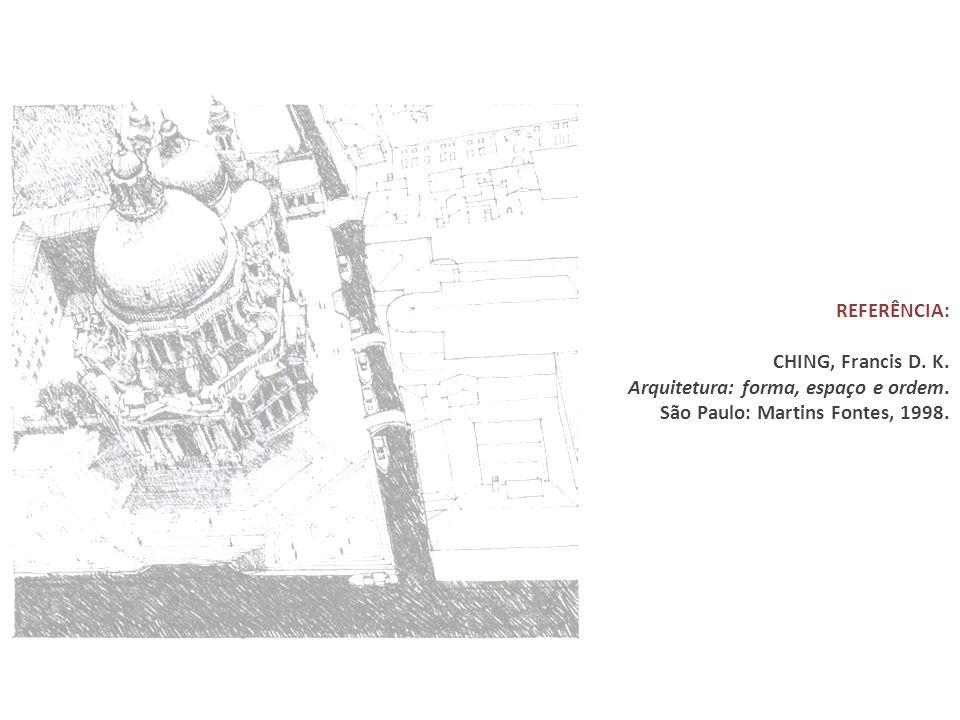 REFERÊNCIA: CHING, Francis D. K. Arquitetura: forma, espaço e ordem.