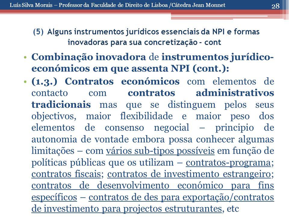 28 (5) Alguns instrumentos jurídicos essenciais da NPI e formas inovadoras para sua concretização - cont Combinação inovadora de instrumentos jurídico