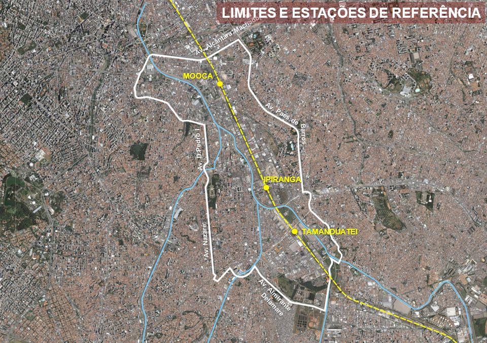 Ipiranga Vila Carioca Parque da Mooca Henry Ford Vila Prudente 64.204 habitantes 87.826 empregos 1,4 /hab 1,4 empregos /hab RELAÇÃO EMPREGOS / HABITANTES – SETORES SUBPREFEITURA VILA PRUDENTE 2010 0,87 empregos /hab 2040 179.709 habitantes 155.478 empregos
