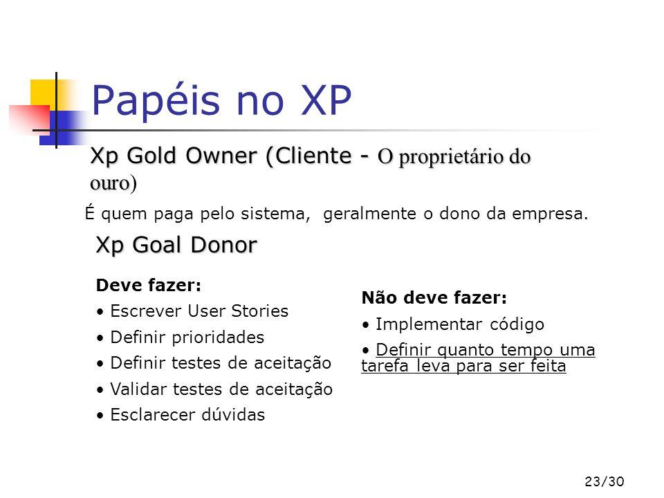 23/30 Papéis no XP Xp Gold Owner (Cliente - O proprietário do ouro Xp Gold Owner (Cliente - O proprietário do ouro) É quem paga pelo sistema, geralmente o dono da empresa.