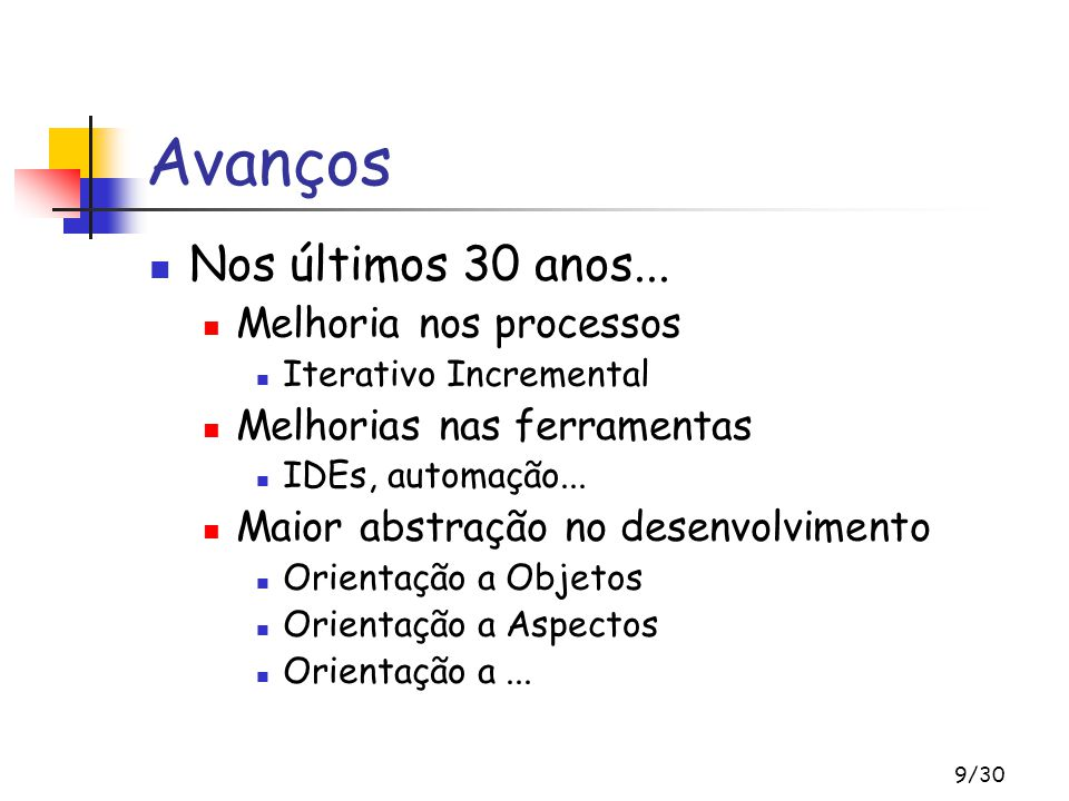 30/30 Referências XPRecife – Grupo de Estudos de Métodos Ágeis de Recife www.cin.ufpe.br/~xprecife Xispê – Portal Brasileiro de XP www.xispe.com.br