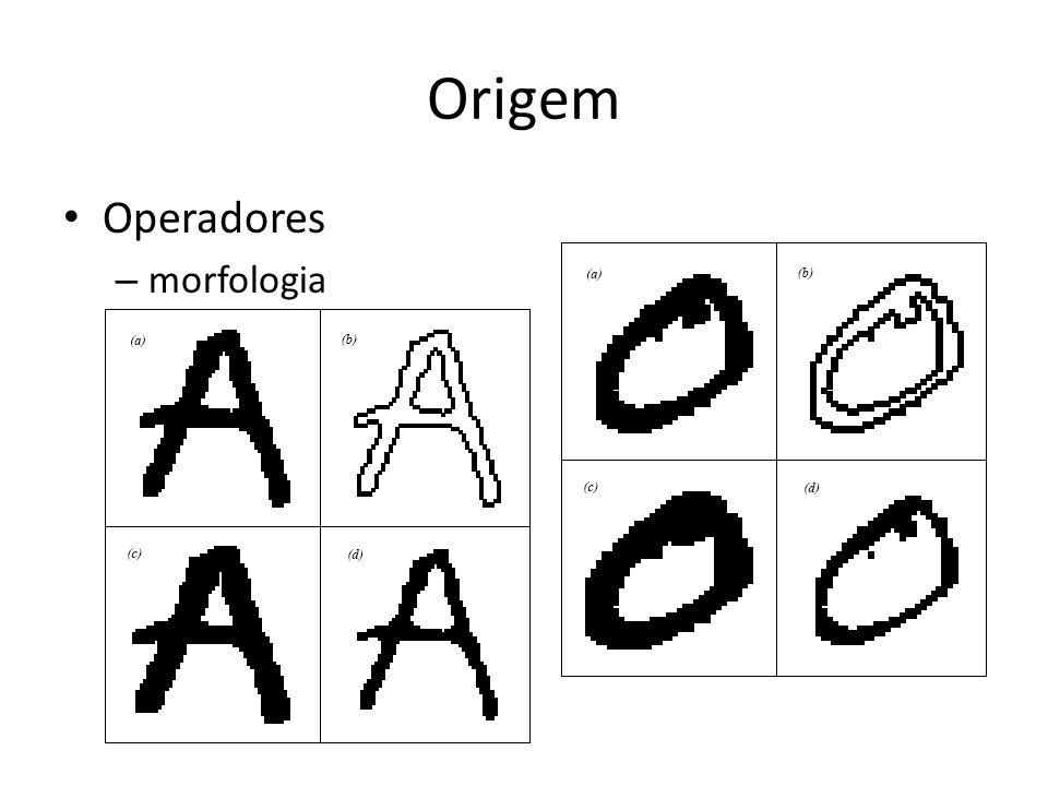 Origem Operadores – morfologia