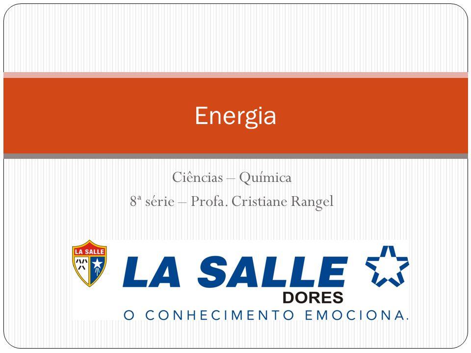 Ciências – Química 8ª série – Profa. Cristiane Rangel Energia