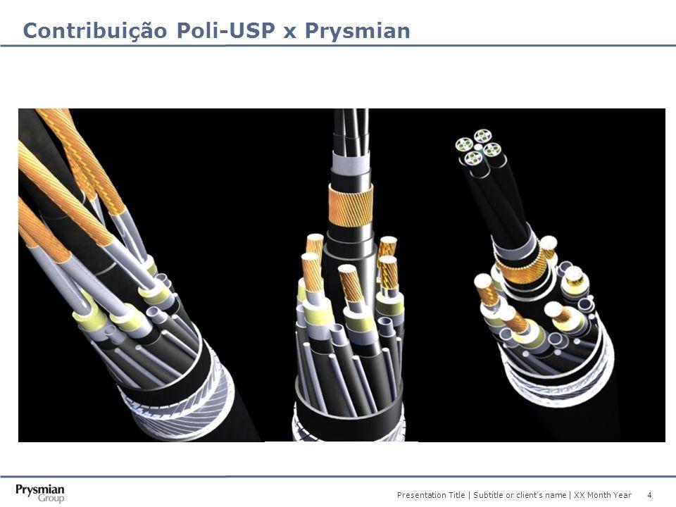 4 Presentation Title | Subtitle or client's name | XX Month Year Contribuição Poli-USP x Prysmian