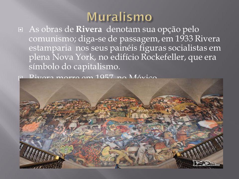  O slide anterior mostra a pintura feita por Diego Rivera no Palácio Nacional da cidade do México, expressando um movimento artístico do início do sé