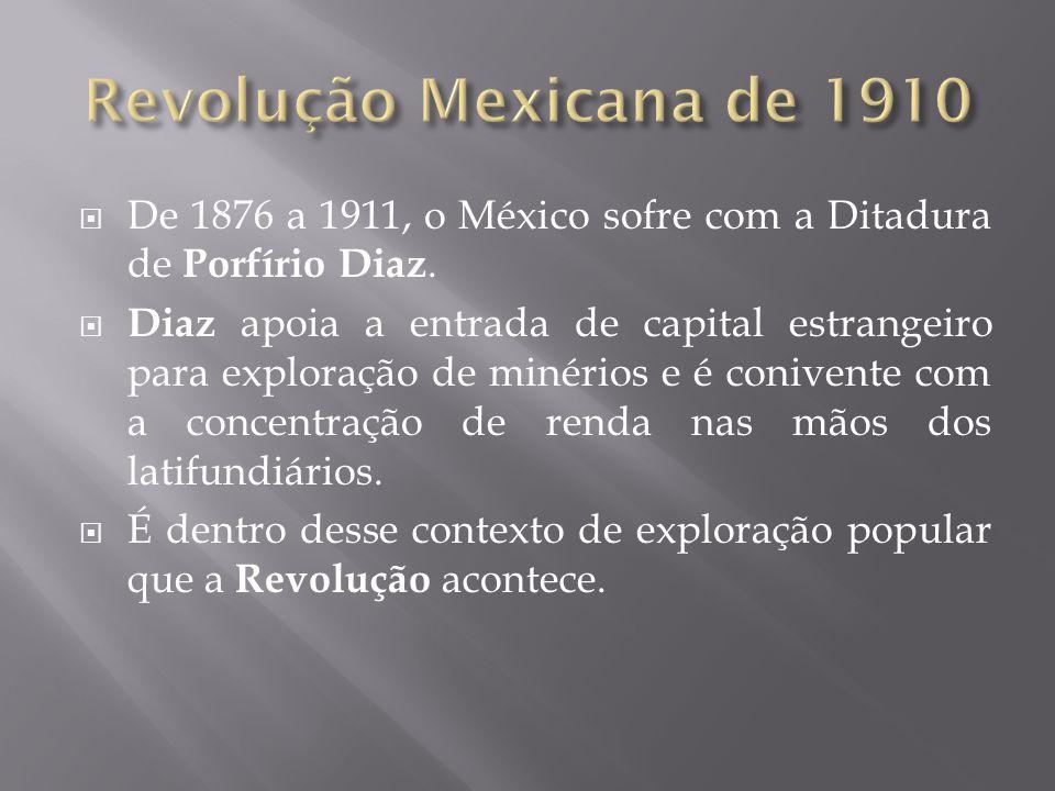  Foto de Revolucionários mexicanos.  Da esquerda para direita: Tomas Urbina, Pancho Villa, Emiliano Zapata e Otílio Montano, México, 1915.