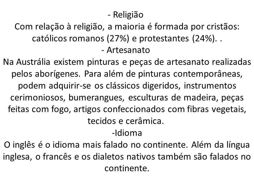 - Religião Com relação à religião, a maioria é formada por cristãos: católicos romanos (27%) e protestantes (24%)..