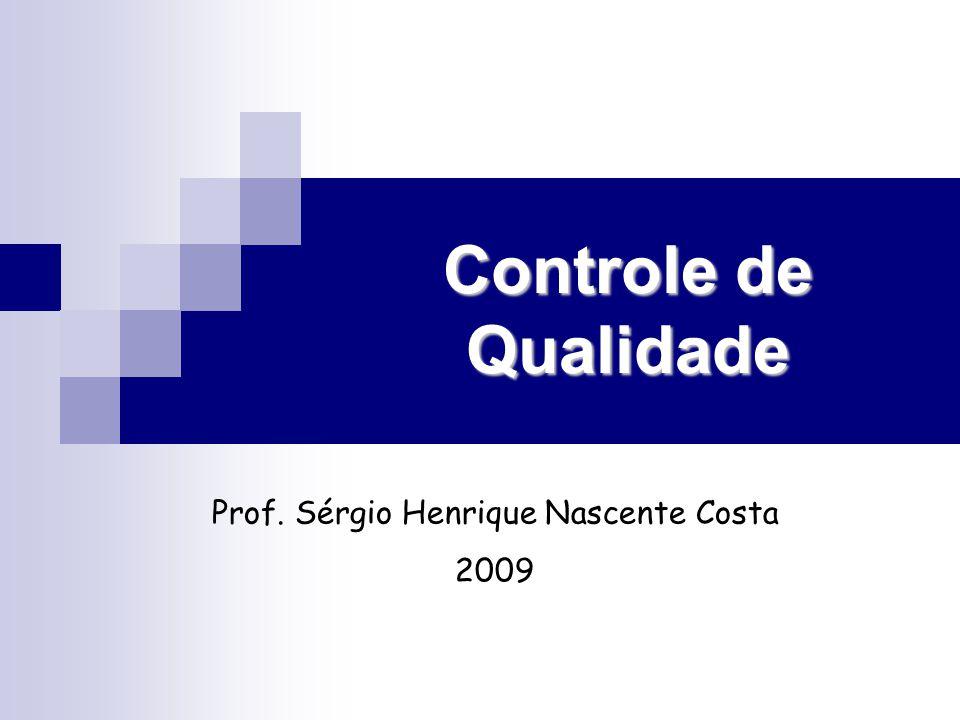 Controle de Qualidade Prof. Sérgio Henrique Nascente Costa 2009