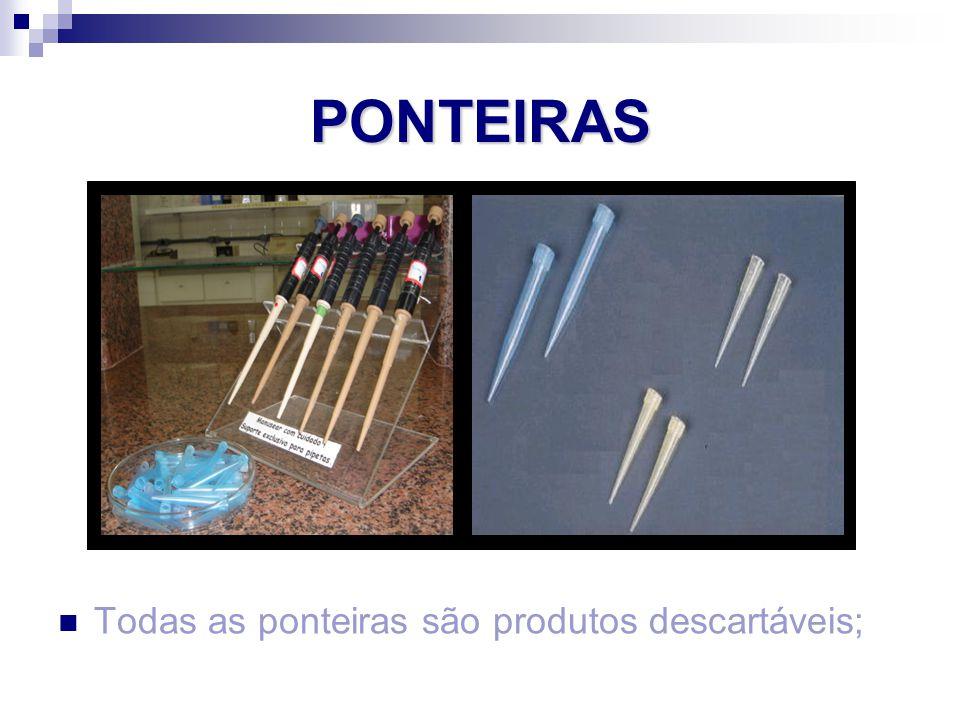 PONTEIRAS Todas as ponteiras são produtos descartáveis;