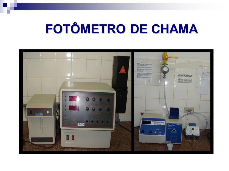 FOTÔMETRO DE CHAMA FOTÔMETRO DE CHAMA