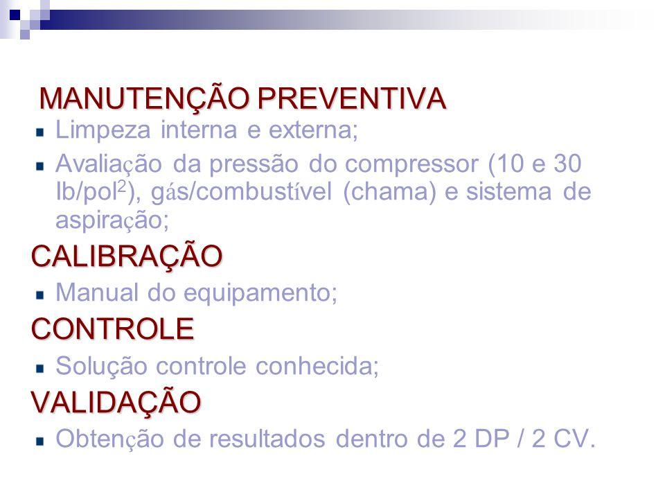 MANUTENÇÃO PREVENTIVA MANUTENÇÃO PREVENTIVA Limpeza interna e externa; Avalia ç ão da pressão do compressor (10 e 30 Ib/pol 2 ), g á s/combust í vel (