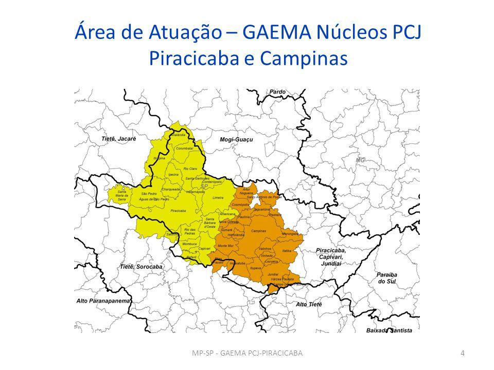 Área de Atuação – GAEMA Núcleos PCJ Piracicaba e Campinas 4MP-SP - GAEMA PCJ-PIRACICABA