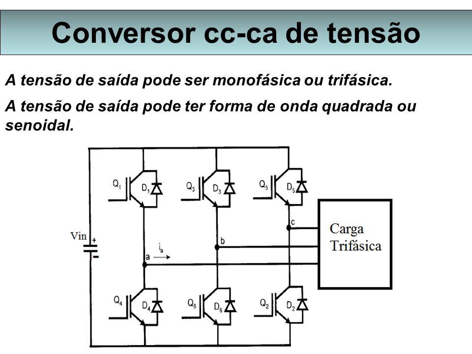 Conversor cc-ca de tensão A tensão de saída pode ser monofásica ou trifásica.