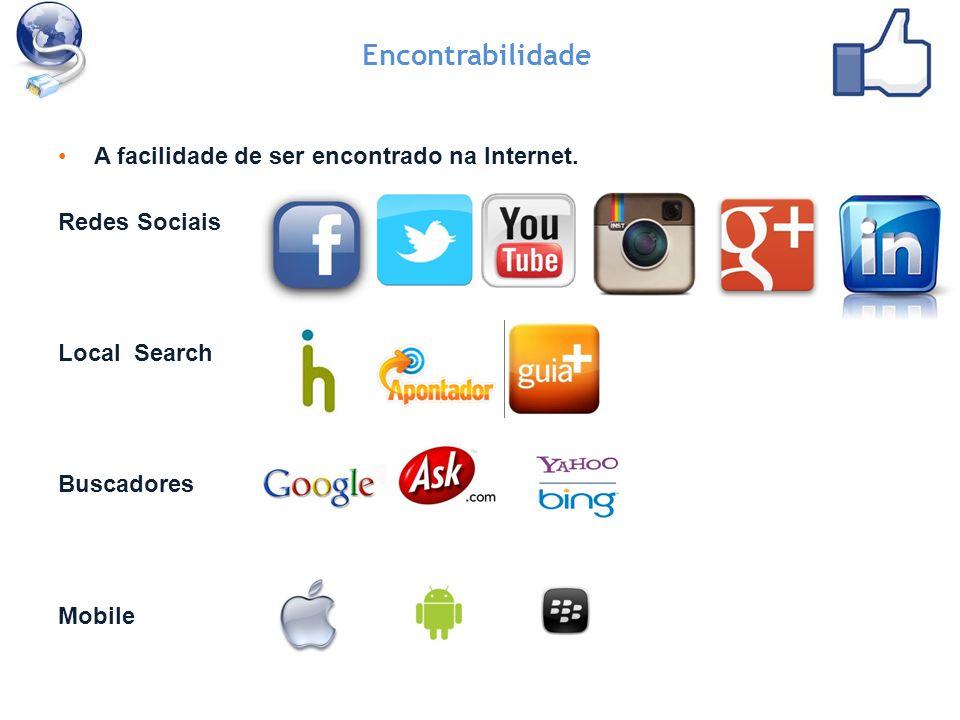 Encontrabilidade A facilidade de ser encontrado na Internet.
