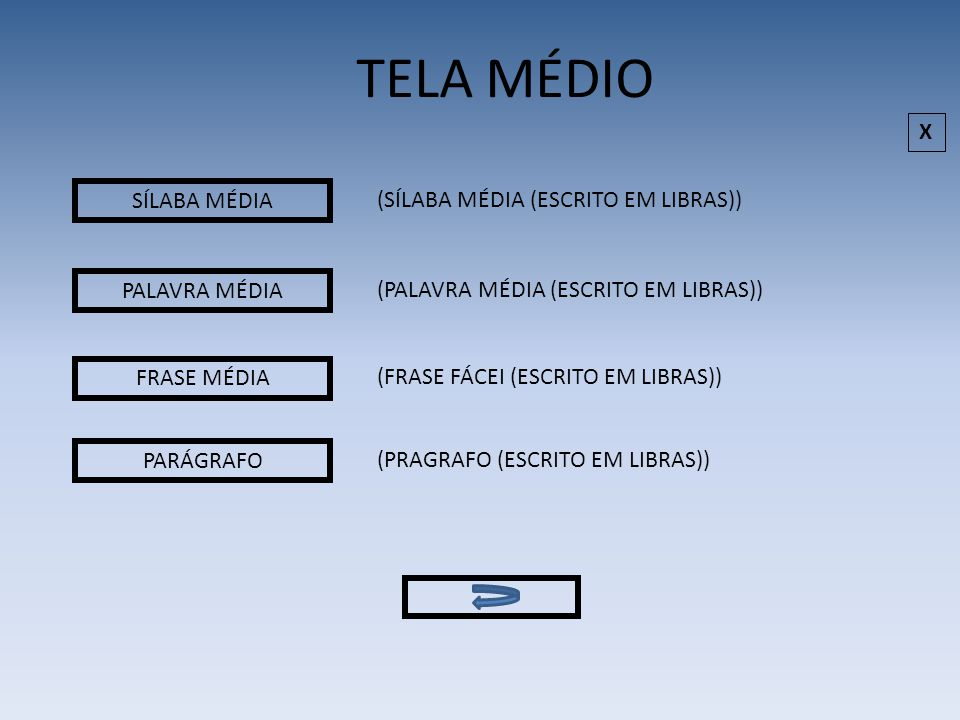SÍLABA DIFÍCIL PALAVRA DIFÍCIL FRASE DIFÍCIL (SÍLABA DIFÍCIL (ESCRITO EM LIBRAS)) (PALAVRA DIFÍCIL (ESCRITO EM LIBRAS)) (FRASE DIFÍCIL (ESCRITO EM LIBRAS)) TELA DIFÍCIL TRECHO DE LIVRO (TRECHO DE LIVRO (ESCRITO EM LIBRAS)) X
