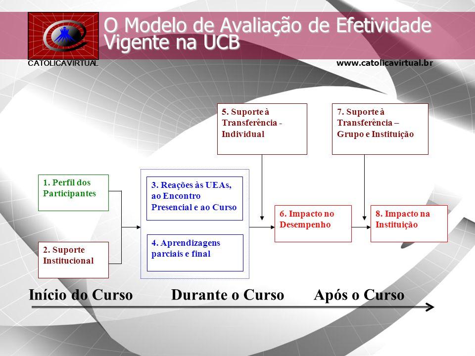 www.catolicavirtual.br CATÓLICA VIRTUAL Avaliação de Efetividade em EAD Elementos para um Processo de Avaliação –Instrumentos para coleta de informaçõ