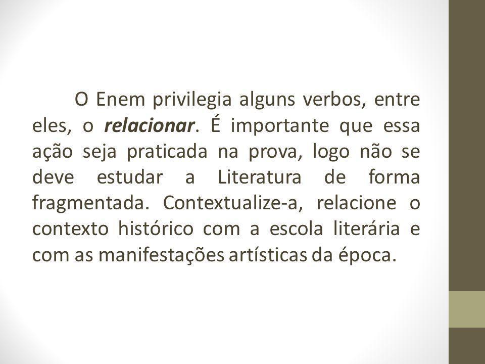 O Enem privilegia alguns verbos, entre eles, o relacionar.