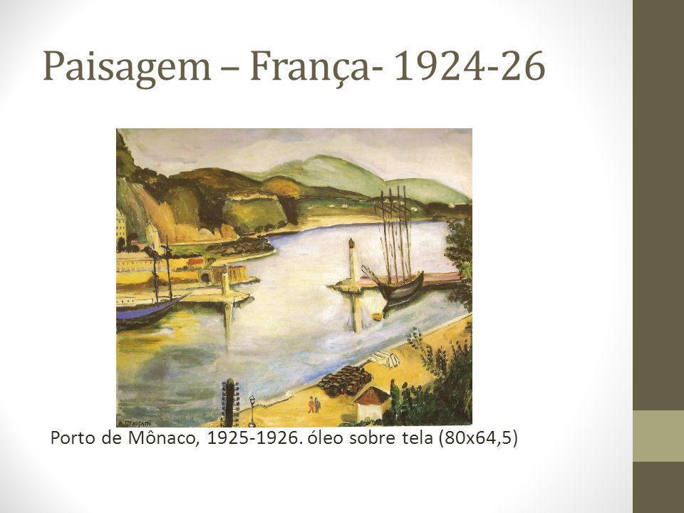 Paisagem – França- 1924-26 Porto de Mônaco, 1925-1926. óleo sobre tela (80x64,5)
