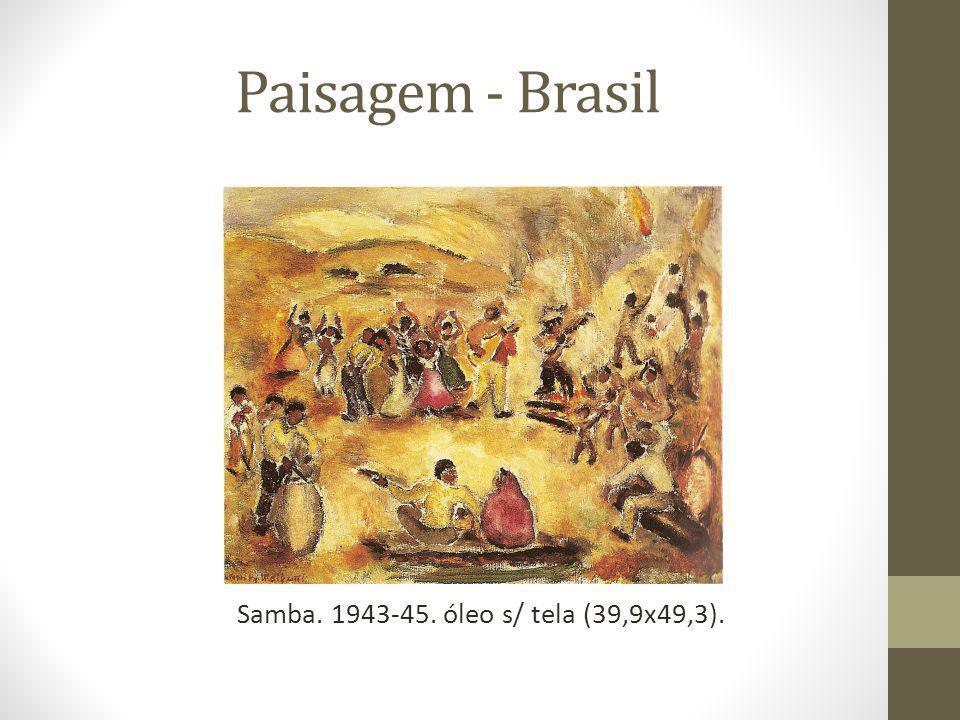 Paisagem - Brasil Samba. 1943-45. óleo s/ tela (39,9x49,3).