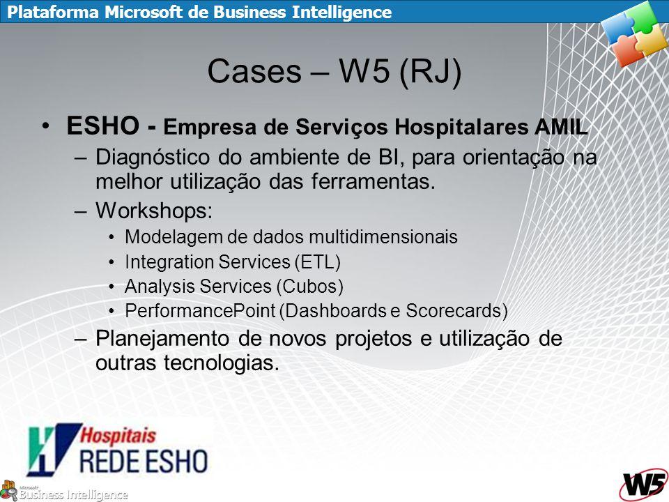 Plataforma Microsoft de Business Intelligence Cases – W5 (RJ) ESHO - Empresa de Serviços Hospitalares AMIL –Diagnóstico do ambiente de BI, para orient