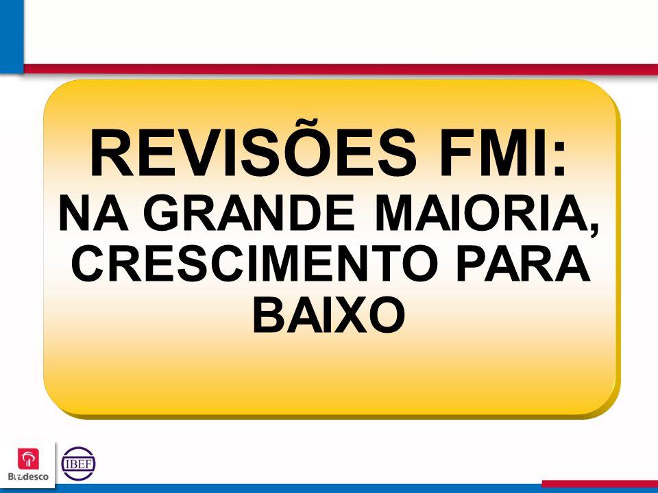 171717 1717 REVISÕES FMI: NA GRANDE MAIORIA, CRESCIMENTO PARA BAIXO